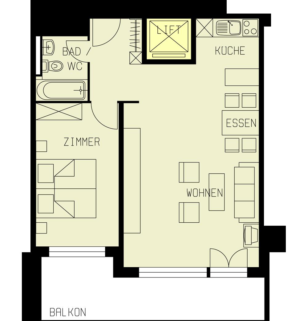 2 kamer appartement huis azur saas fee - Kamer kinderstoel ...